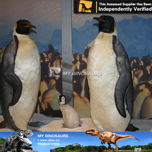 My dino-animatronic animals playground-penguin outdoor walking