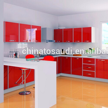 Red Color High Gloss Kitchen Cabinet Doors Customized Kitchen Cabinet Door Designs Buy Curved Kitchen Cabinet Doors High Gloss Lacquer Kitchen