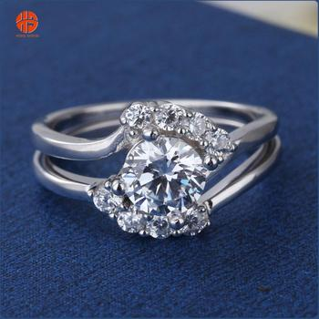 Dubai Gold Jewelry Engagement Rings Solitaire Set Ring Valentine S
