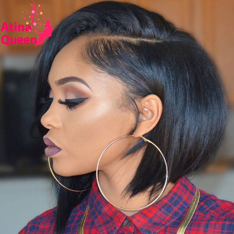 Short bob lace front wigs black woman authoritative point