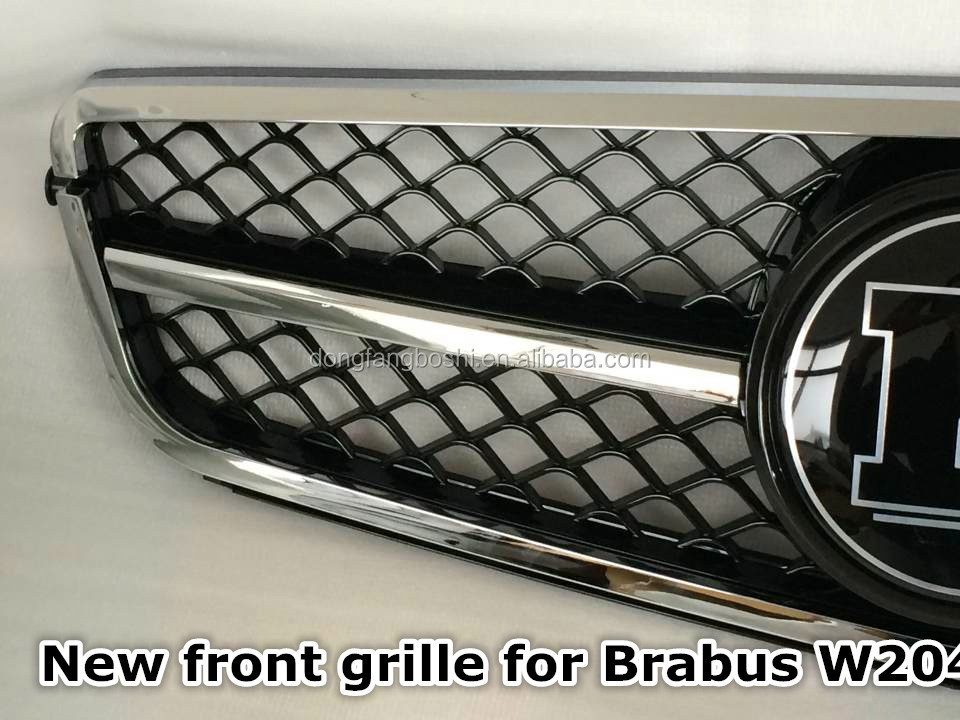 Car chrome grille for Benz C-class W204 for Brabus