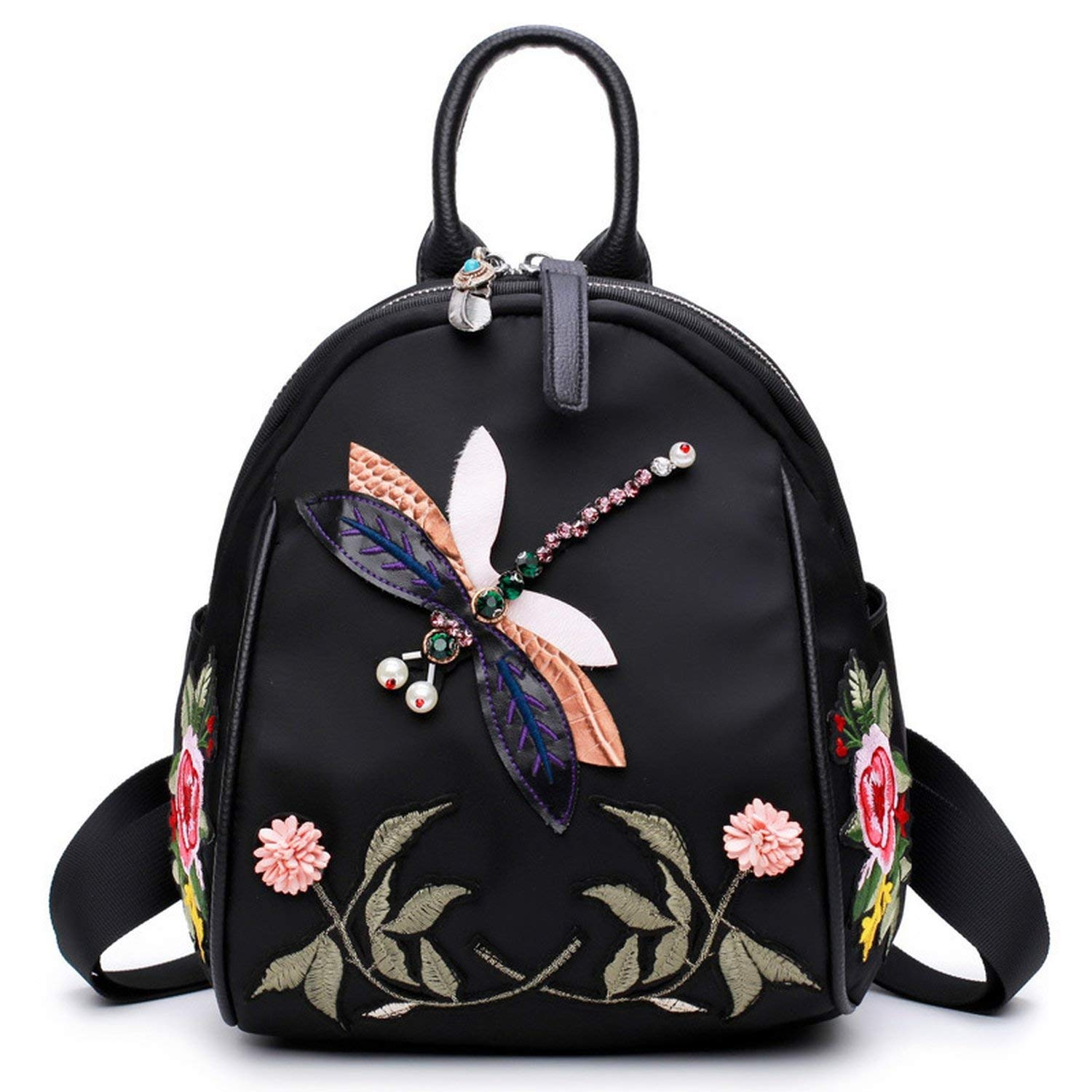 cff8e3bee77d Get Quotations · Perfues Handmade Embroidery New Fashion Women Backpack For  Teenage Girls Female Backpacks