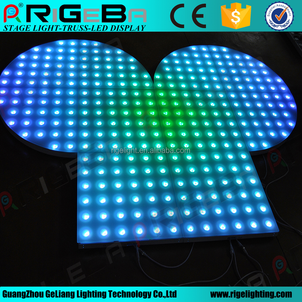 China make updated stage floor light disco sector led portable dance floor