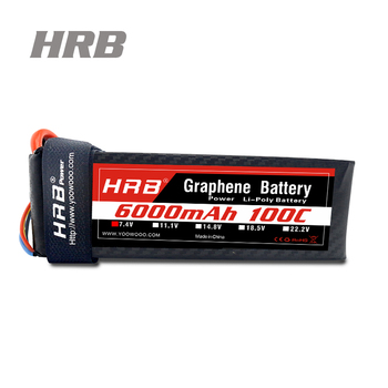 Original HRB Lipo Battery 7.4V 6000mah 100C Graphene Battery Burst 200C for RC Boat Car Helicopter Drone