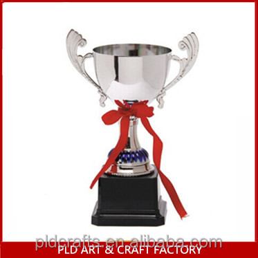 resin silver plating trophy for promotion