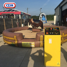 Mechanical Rodeo Bull Inflatable Amusement Rides