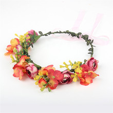 Dreamily Rose Flower Crown Wedding Festival Headband Hair Garland Wedding Headpiece