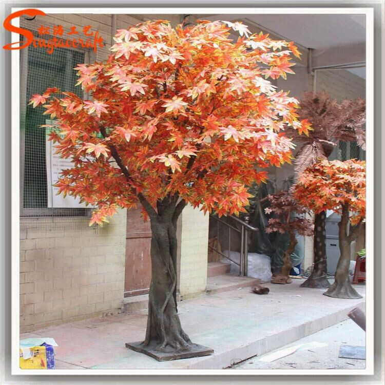 Wholesale 8 5 ft large decorative outdoor artificial tree for Artificial trees for decoration