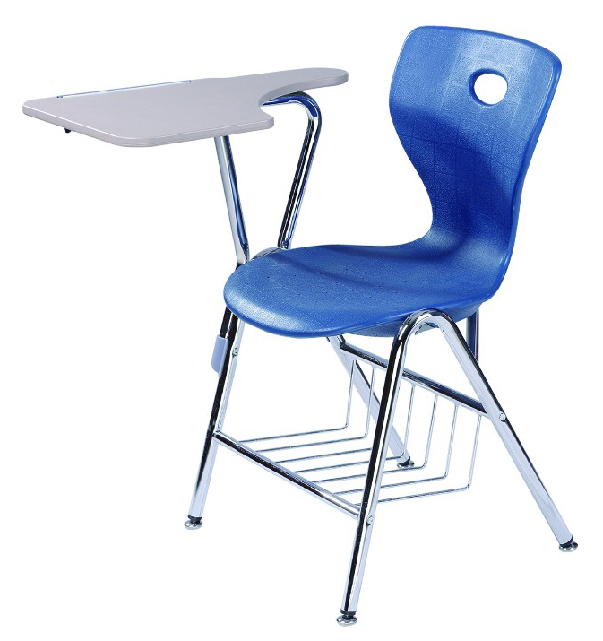 High Quality Plastic Shell Student Chairs With Hard Plastic Writing Pad
