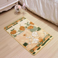 Durable anti slip polyester material custom fashion printed floor mat