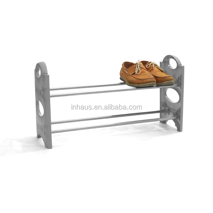 excellent wholesale shoe racks high capacity living room furniture   Hot Selling Steel Plastic Mini 2 Tiers Shoe Display Rack ...