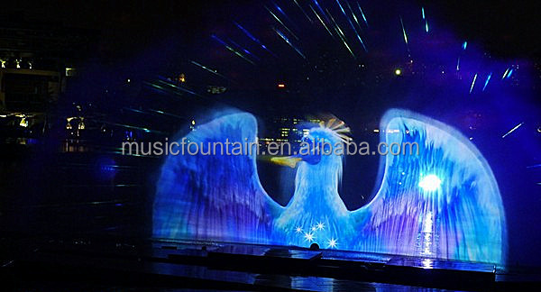 3d Outdoor Laser Holographic Projector Water Screen Movie