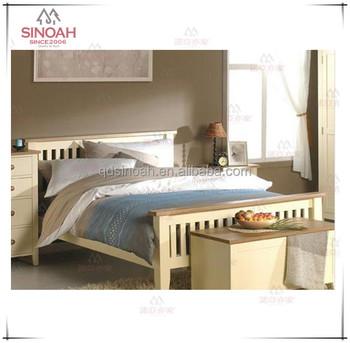 Blanco Pintado Muebles De Dormitorio De Pino - Buy Product on ...