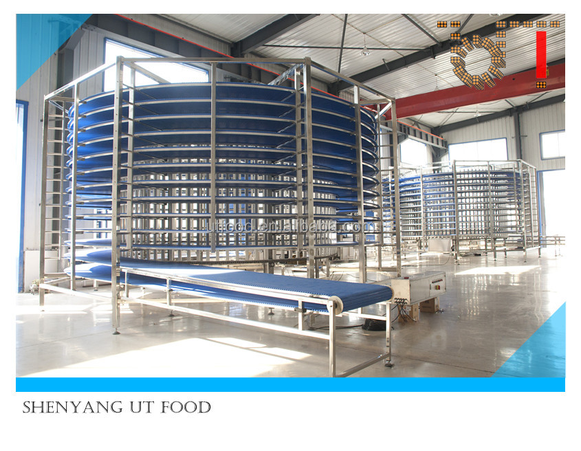 The cooling tower bakey stainless steel hamburger bread spiral cooling tower