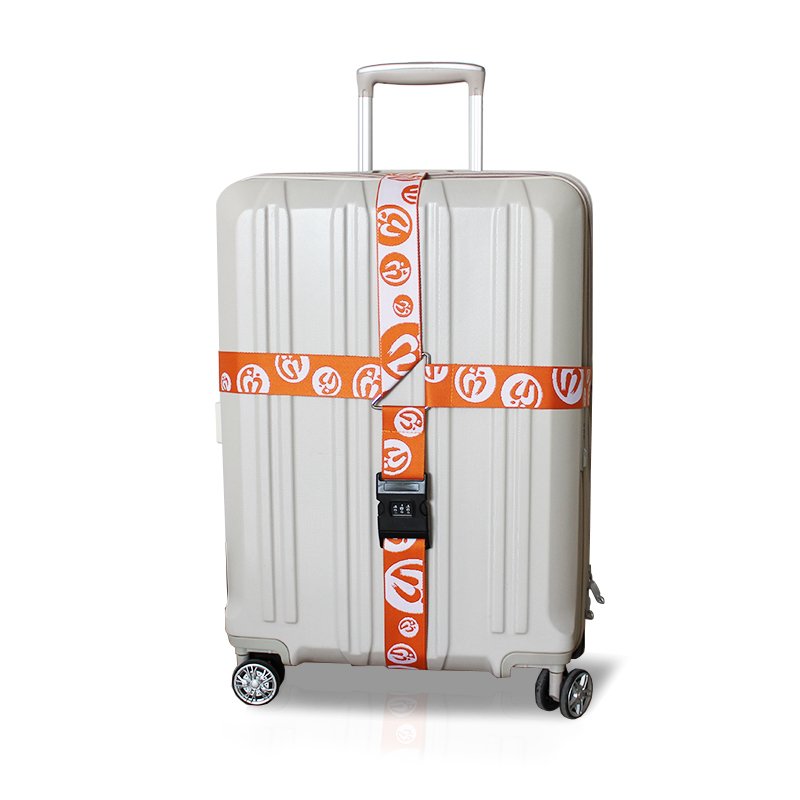 Personalized lockable adjustable polyester travel baggage belt