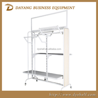 top grade wooden and metal clothing display racks for retail store chain shops/warehouse racks shelf