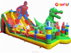 Hot sale kids inflatable spider park/dinosoucer castle/amusement park