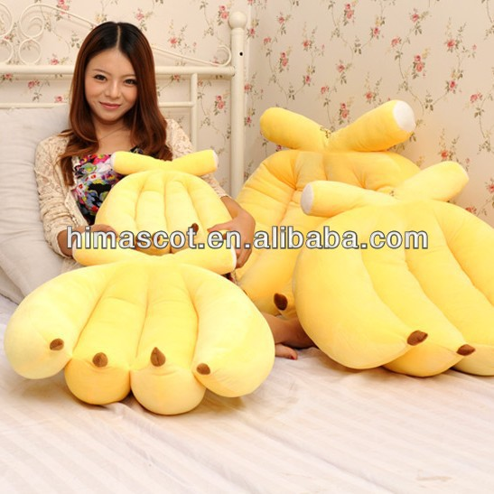 HI top sale stuffed a hand of bananas plush ,soft children's fruit banana toy