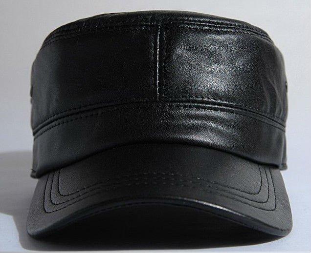 militar buyerchampion genuino sombrero cadete de cuero para hombre nueva  cosecha cap unisex para hombre ballcap 334f293ab3f