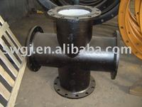 All flanged tee/cross pipe fitting for ductile iron pipe