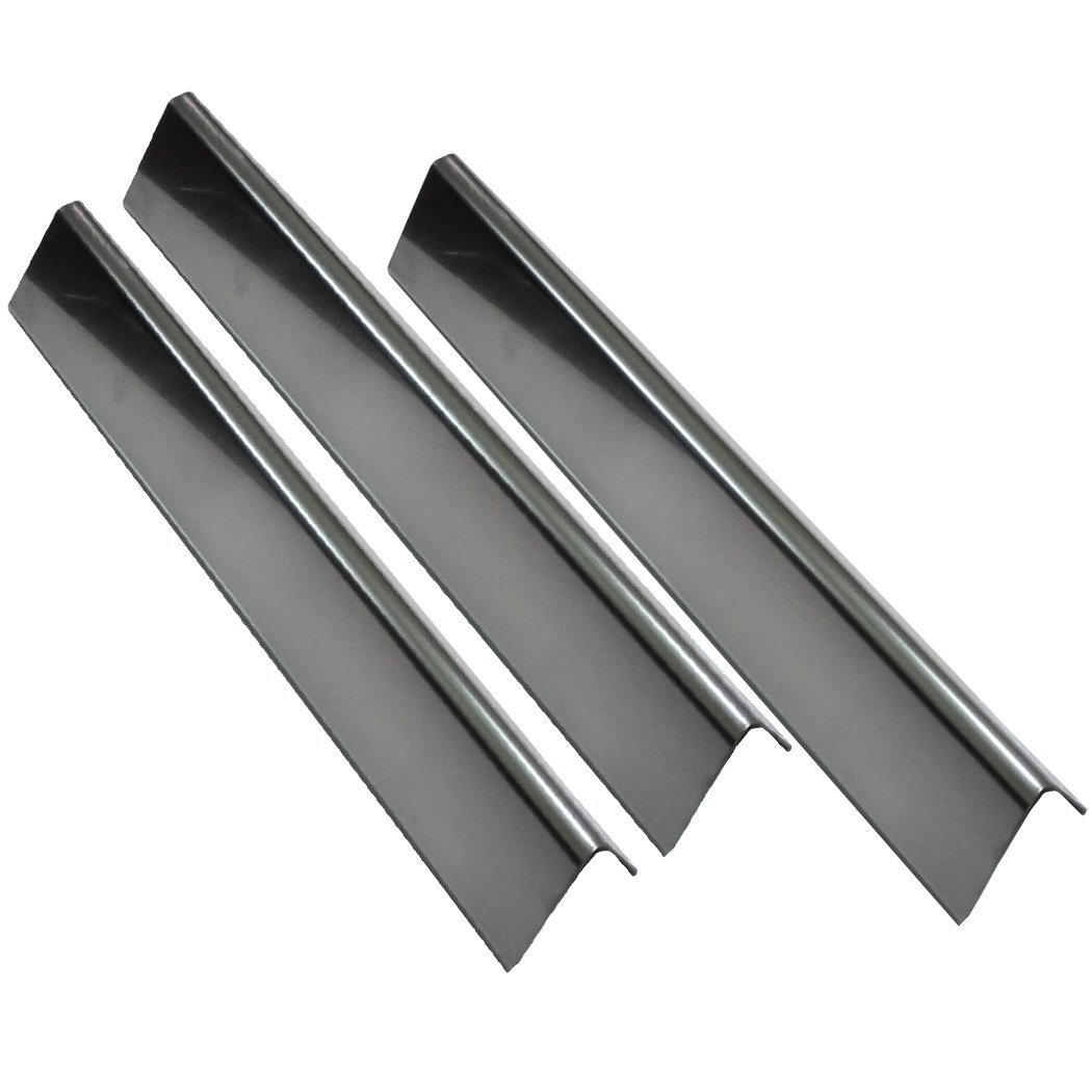 "Grill Valueparts 7635 (3-pack) BBQ Gas Grill Stainless Steel Flavorizer Bars, Heat Shield (16 Ga.) For Weber Spirit 200 Series Gas Grills With Front-Mounted Control Panels (Dims: 15 1/4"" x 3 1/2"")"