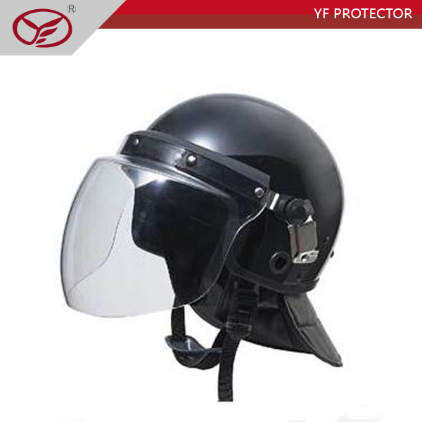 Anti riot helmet WITH POLYCARBONATE FACE SHIELD BLACK