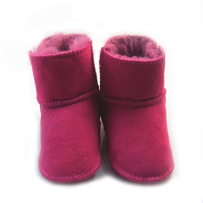 Genuine leather boots baby shoes 0 2year baby wool boots boy girl shoes  toddler snow boots