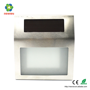 LED plastic solar garden mail letter light rechargeable wall mounted door number lawn high lumens solar motion sensor light