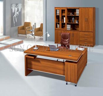 Modern wooden office desk office table design (SZ-OD061 ...