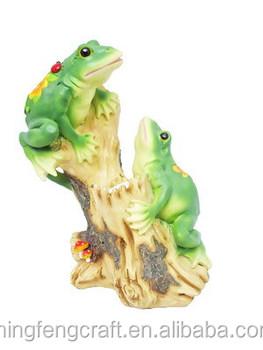 Top Collection Enchanted Story Fairy Garden Solar Frog