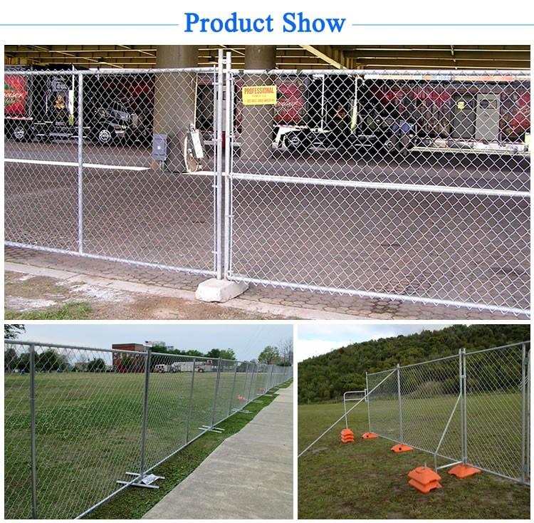 Cheap No Dig Mobile Pet Removable Pvc Chain Link Fence