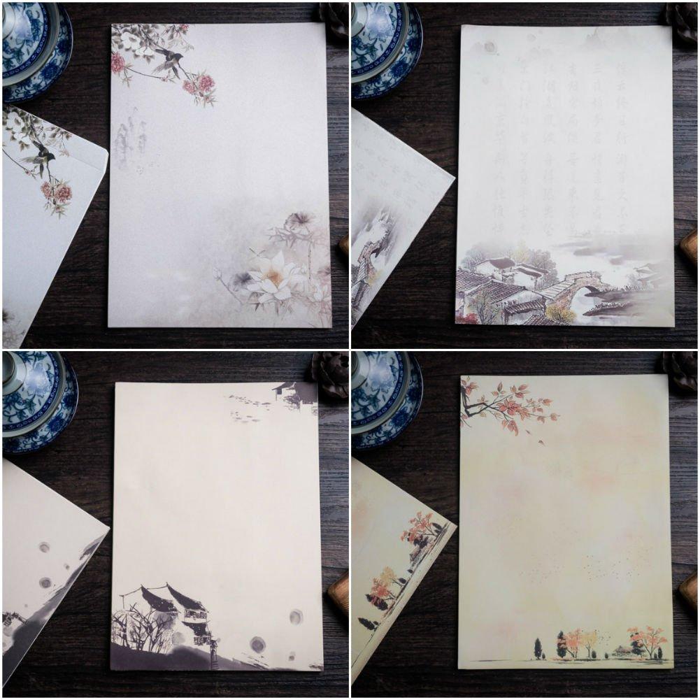 buy akoak 24 sheets four seasons style writing stationery paper 12