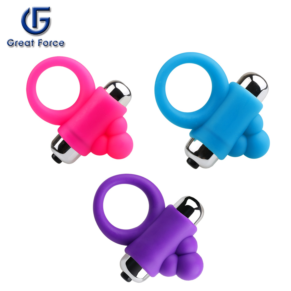 New design silicone sex toys vibrating penis cock ring