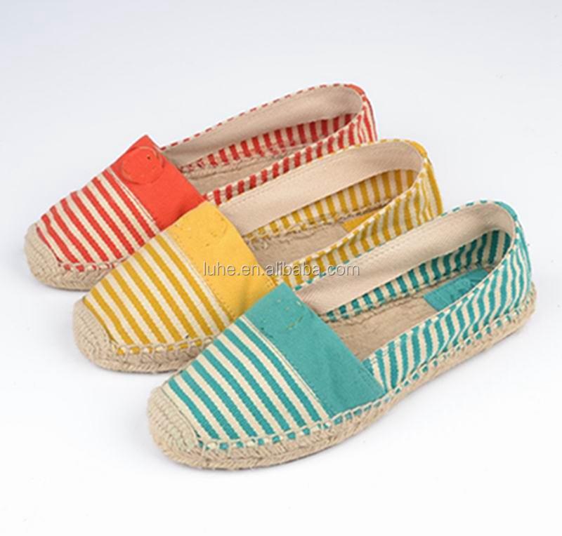 Alpargata zapatos 2016 alpargatas de yute suela/alpargatas de yute