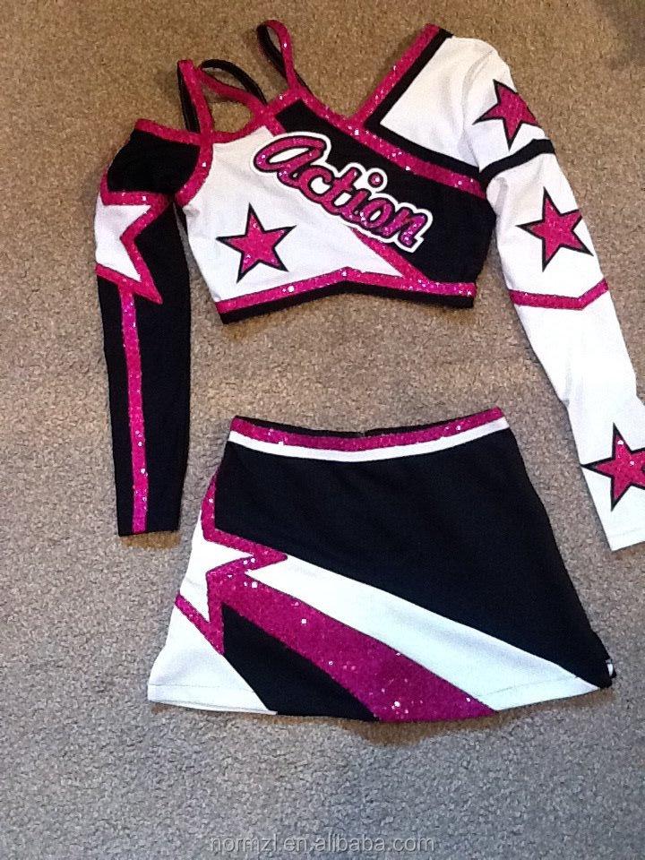 10346209_396590200501302_9170164762778769860_n.jpg ... & Sexy Straps Cheerleading Uniforms Rhinestonestop Sparkle Long Sleeve ...