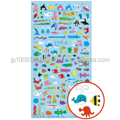 Petit Sticker 72415 YURU fish _ Loose fish _ sticker paper _ paper craft _ most popular products