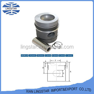 OEM 3640232M1 745760M91 Tractor MF240 Parts Piston Assembly For Massey Ferguson Parts