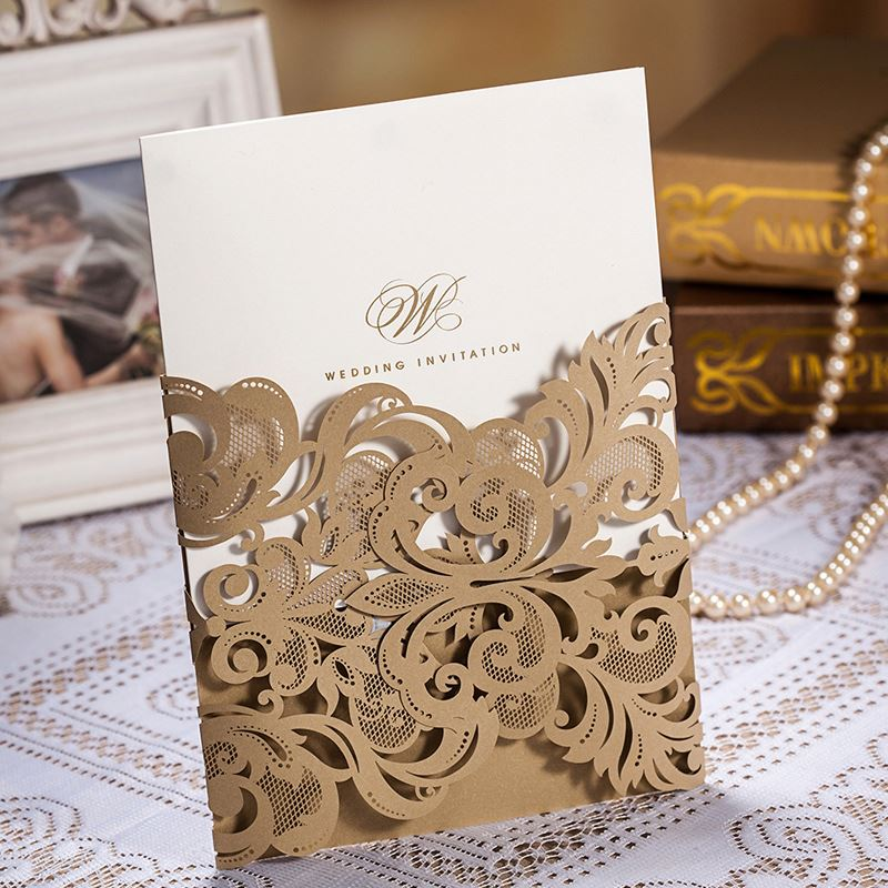 Heart laser cut wedding place cards