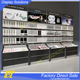 Wall wooden custom cosmetics display cabinets with acrylic cases