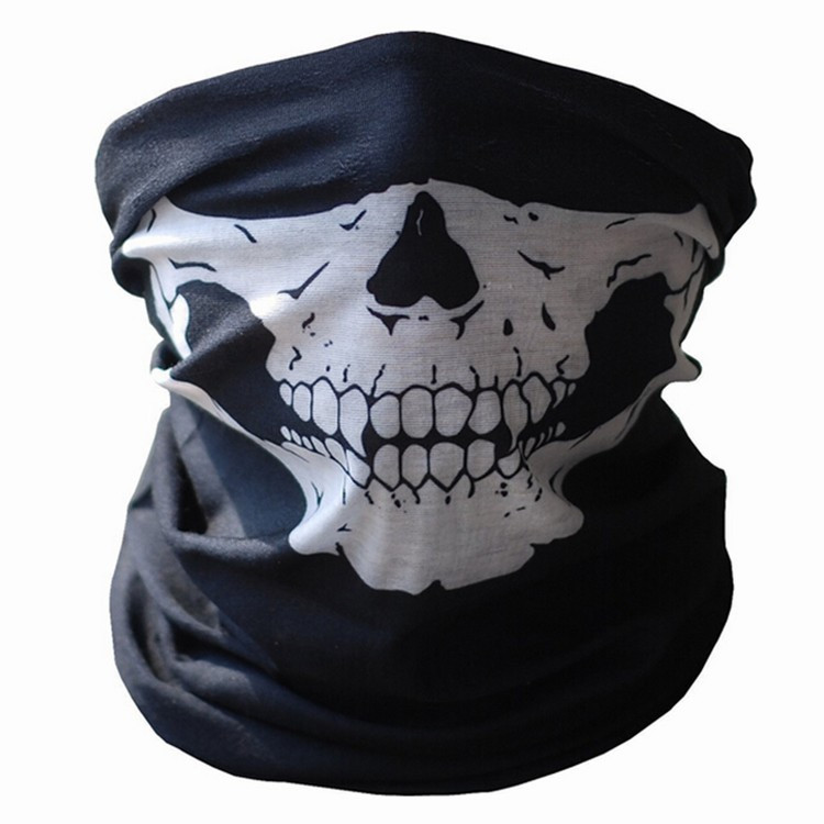 Череп защитный респиратор хэллоуин ну вечеринку маски ужас бандана мотоцикл полиэстер шарф лица шею теплым тушь маскарадные маски