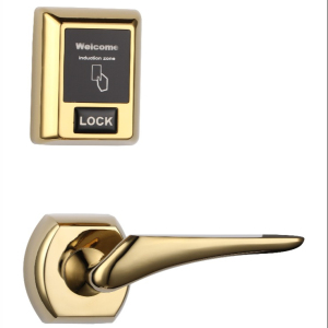 2018 New security electronic rf door handle lock RFID card smart hune hotel lock