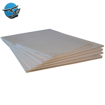 China Manufacturer Cut Glossy Laminate White 4x8 Lowes Uv Heat Resistant Perforated Hard Corrugated Plastic