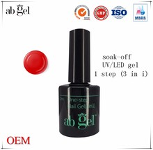 Color soak one step uv gel nail polish