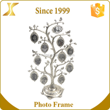 OEM fancy Hollow out zinc alloy Family Tree shape metal photo frame