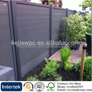 exterior wood plastic fence garden use outdoor composite garden fence free standing fencing