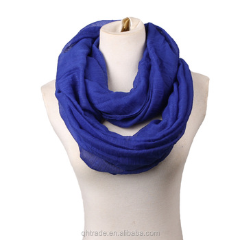 16 Colors Available New Solid Plain Knit Lightweight Infinity Scarf