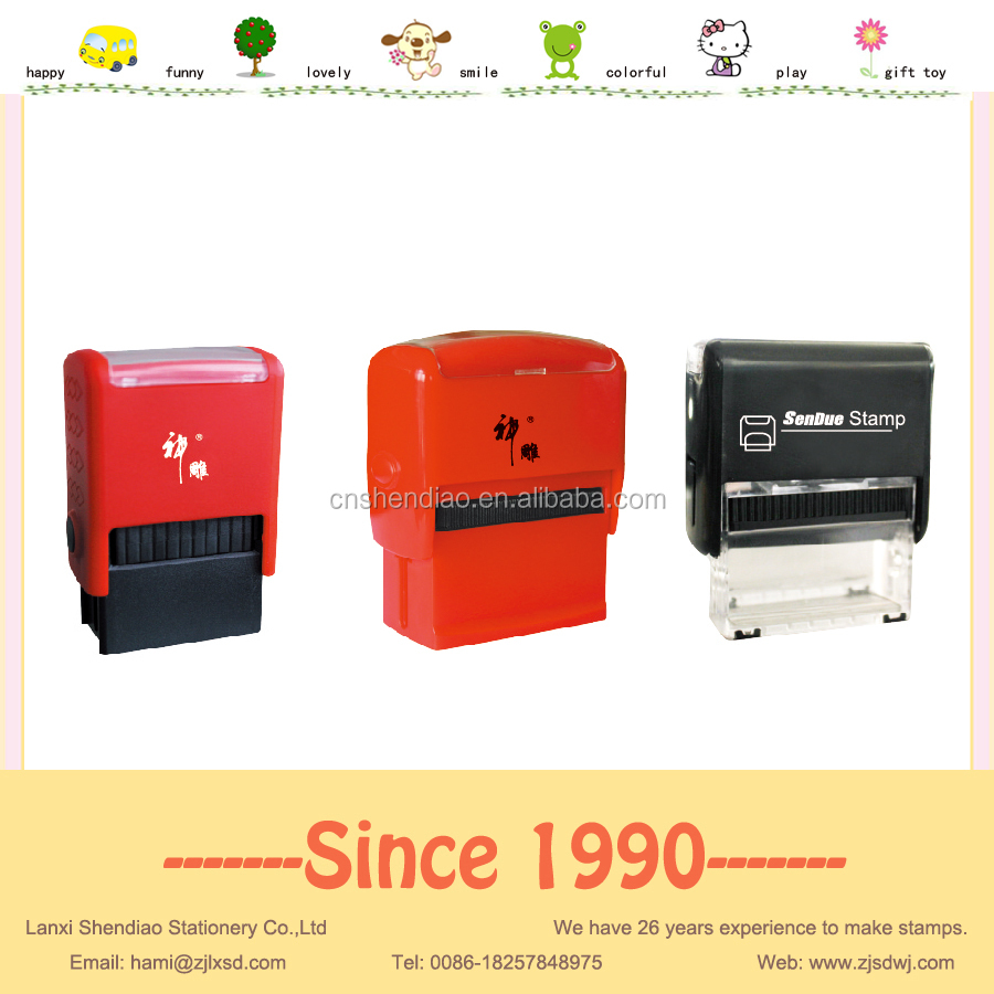 Easy to operate Plastic self inking stamp flash machine