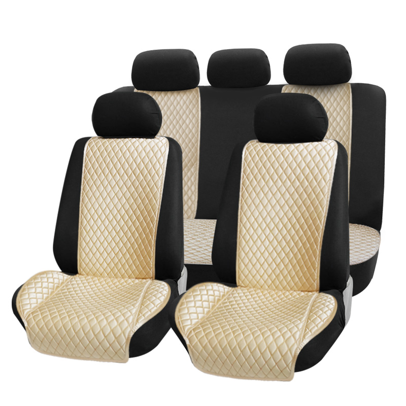 Durable  wholesale polyester universal  luxury suede seat covers for car