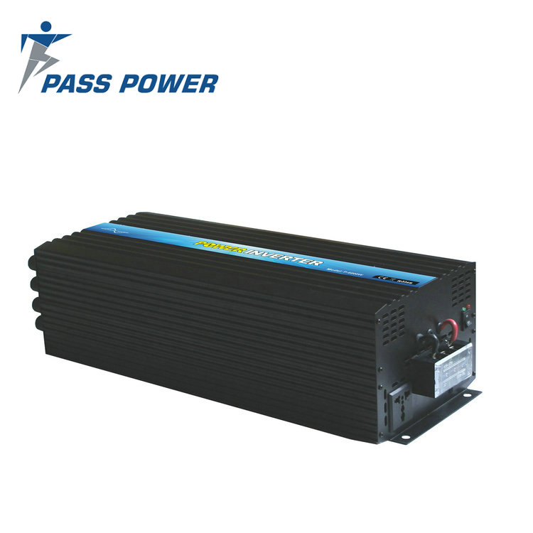 Trade Assurance 24volt 220volt dc to ac high frequency pure sine wave power Inverter 6000 watt inversor for Car RV black