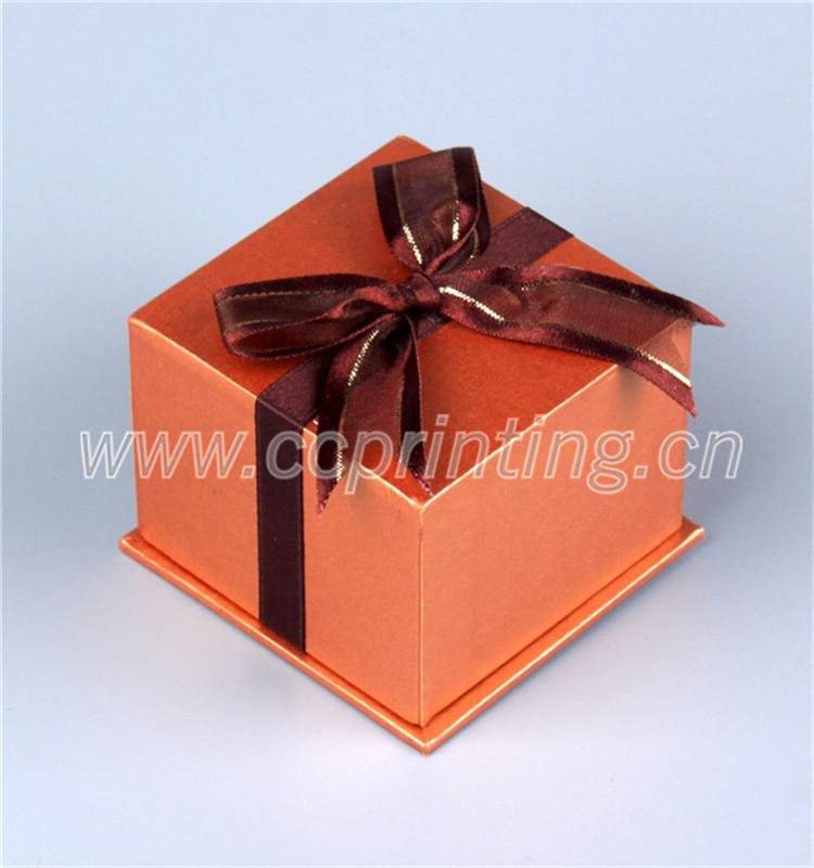 Colorful Cheap Price Small Jewelry Box With Silk Ribbon